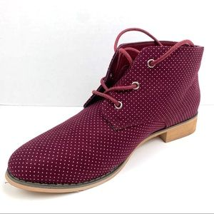 JG Ankle Lace Up Polka Dot Boots Size 9